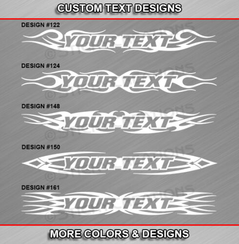 Fits MAZDA RX-8 Custom Windshield Tribal Flame Text Decal Sticker Vinyl Graphic