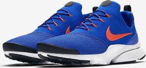 les ventes chaudes 44980 e4239 Détails sur Homme Nike Presto Fly Racer Blue Crimson Maille Course Gym  Bas-montantes- afficher le titre d'origine