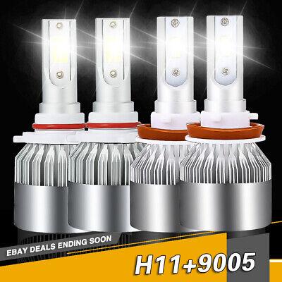 CREE H11 9005 HB3 LED Headlight Kit Power Bulbs Beam For Nissan Maxima 2017-2016