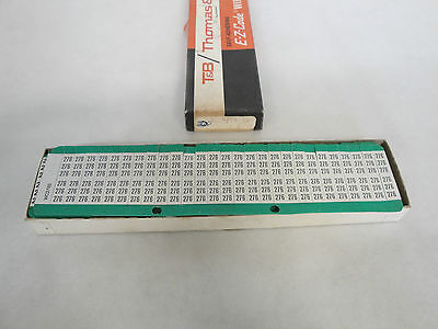 Hospitable New In Box Thomas & Betts Self-adhering E-z-code Wire Markers Wccp276-300s Be Shrewd In Money Matters Business & Industrial Glues, Epoxies & Cements