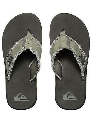 QUIKSILVER NEW Men/'s Flip Flops Sandals Black//Brown Monkey Abyss BNWT