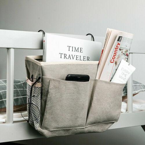 Bed Organizer Bedside Pockets Gadget Storage Holder Couch Hanging Bag Home