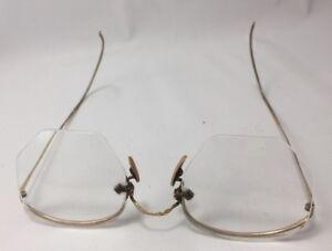 075835d6bb01 Antique VTG American Optical 1 10 12k Gold Filled Oval Wire Rimmed ...
