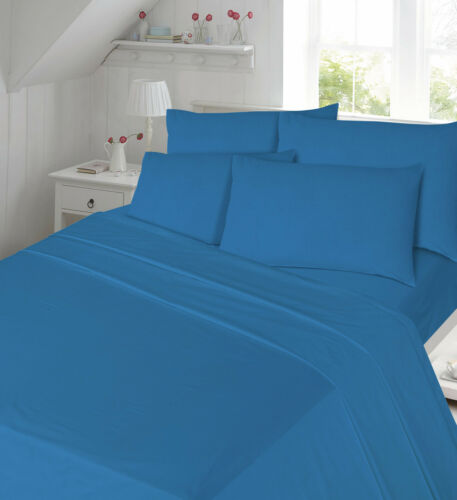 100/% Brushed Cotton Therma Flanellette Fitted Sheet or Flat Sheet or Pillow Pair