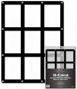 BCW-9-Card-Black-Border-Screwdown-Trading-Card-Holder-Qty-25