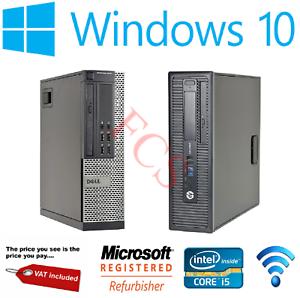 Dell-hp-i5-4th-Gen-Quad-Desktop-SFF-16GB-RAM-SSD-HDD-Windows-10-Computadora-Pc