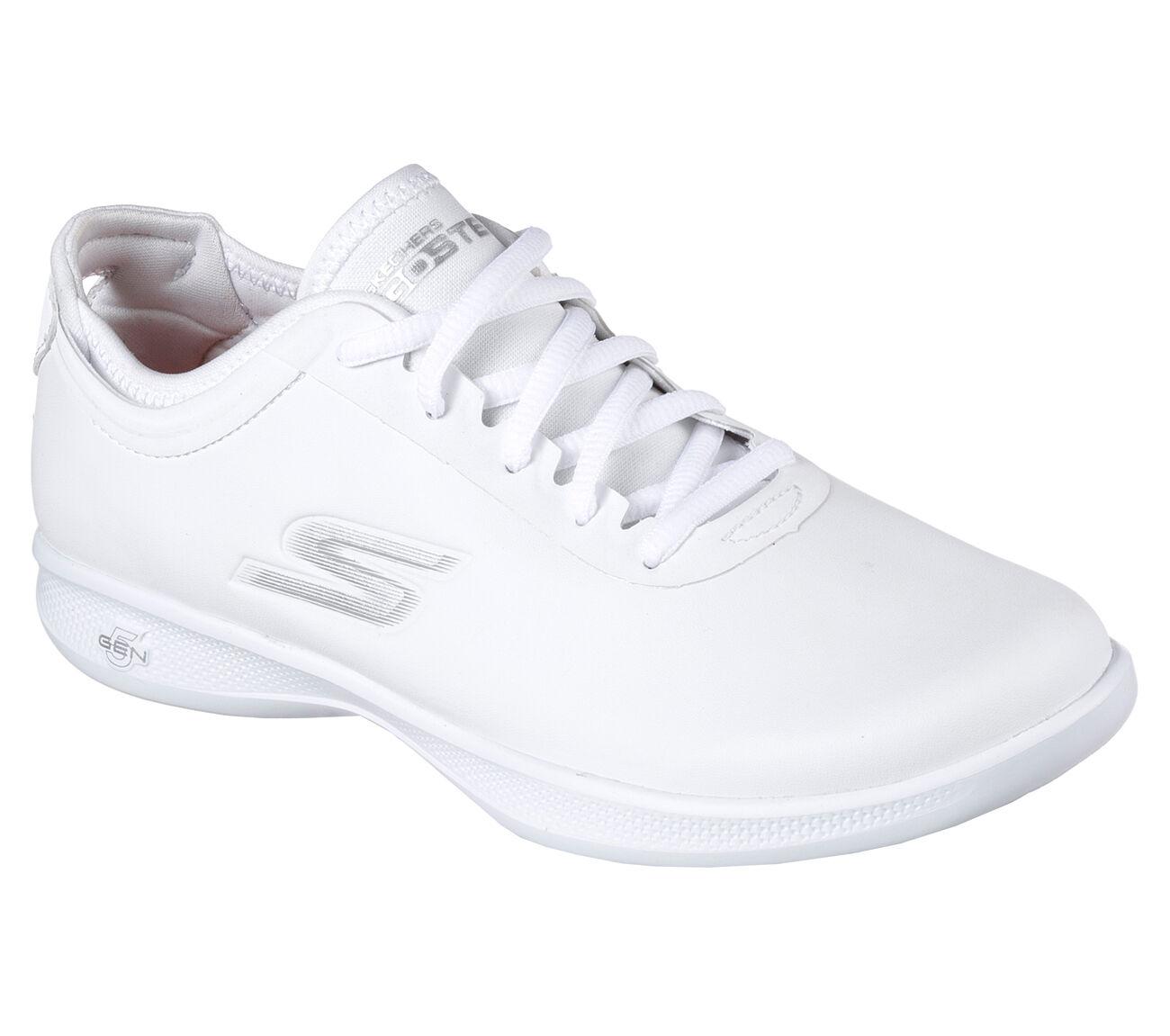 Descuento por tiempo limitado NUEVA, Para Dama Skechers Deportivo Cojín Lite Ovación GOGA Max Blanco