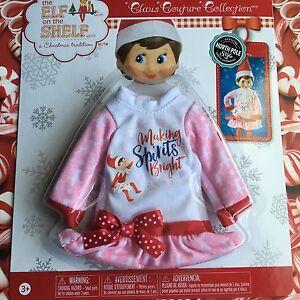 Making Spirits Bright Pjs Elf On The Shelf Pajamas Dress