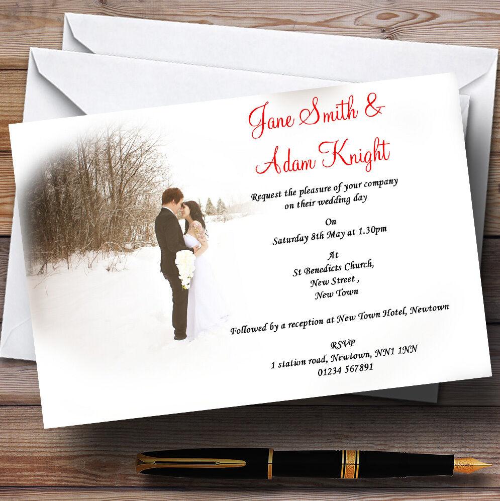 Maison neuve, satisfaite de la famille Blanc Blanc famille d'hiver personnalisé soirée réception invitations 19f89f
