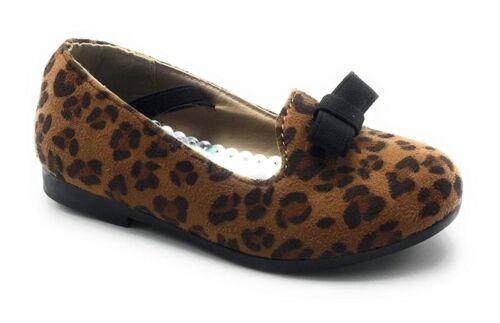 Girls New Toddler Ballerina Loafers Dance Slip on Elastic Strap Shoes Sz 4-10