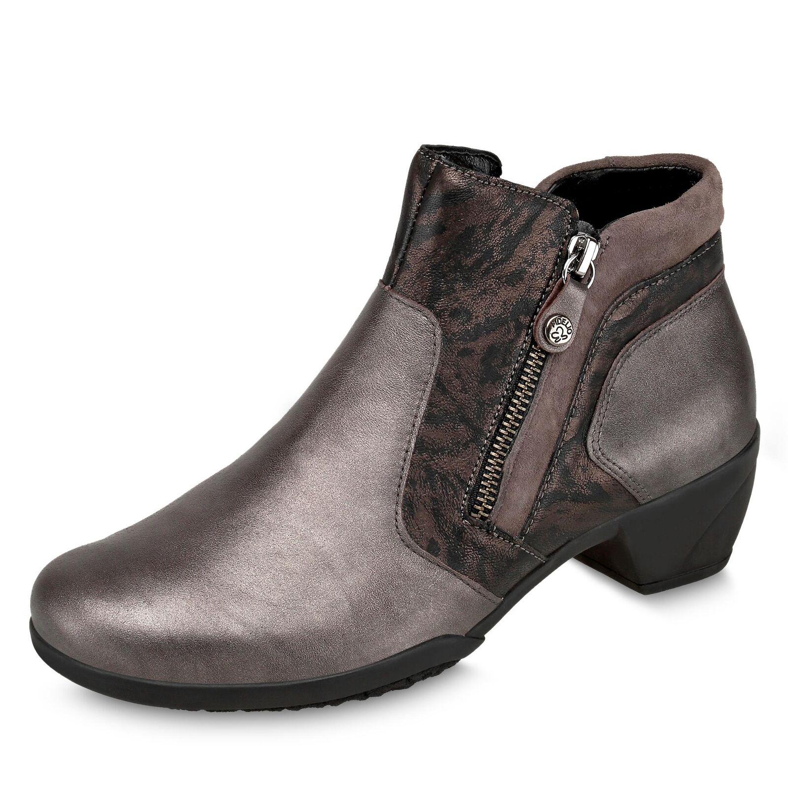 Fidelio Damen klassische Stiefelette Stiefel 35-mm-Absatz Weite H Schuhe bronze
