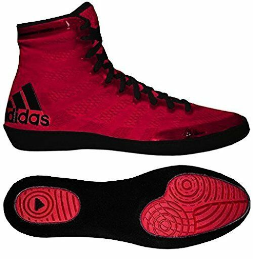 sports shoes 60589 95bc2 adidas Ussh16030614391 Adizero Varner High Top Wrestling Shoes - 9 D(m) US  Red Black for sale online   eBay