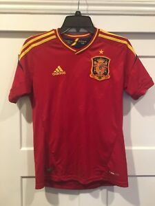 Details about Spain Espana National Team Adidas ClimaCool Jersey Sz Small Red