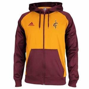 Cleveland Cavaliers Adidas Men s Pre-Game Full Zip Hoodie  100  fd63e80ec3e