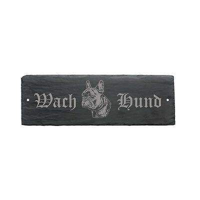 Diskret Wetterfestes Schild « Wachhund French Bulldog » Türschild Hund 22 X 8 Cm Eine VollstäNdige Palette Von Spezifikationen