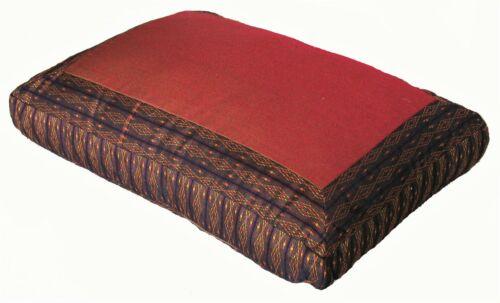 """Meditation Cushion Zafu Pillow Rectangular 17/"""" x 12/"""" 4.5/"""" loft"""