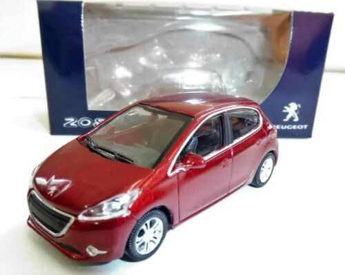 """PEUGEOT 208 5 Portes Rouge 1//64 /""""3 Inche/"""" Norev Diecast Neuf"""