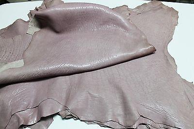 Italian thick Lambskin leather skins hides GRAINY VINTAGE BOIS DE ROSE 4+sqf
