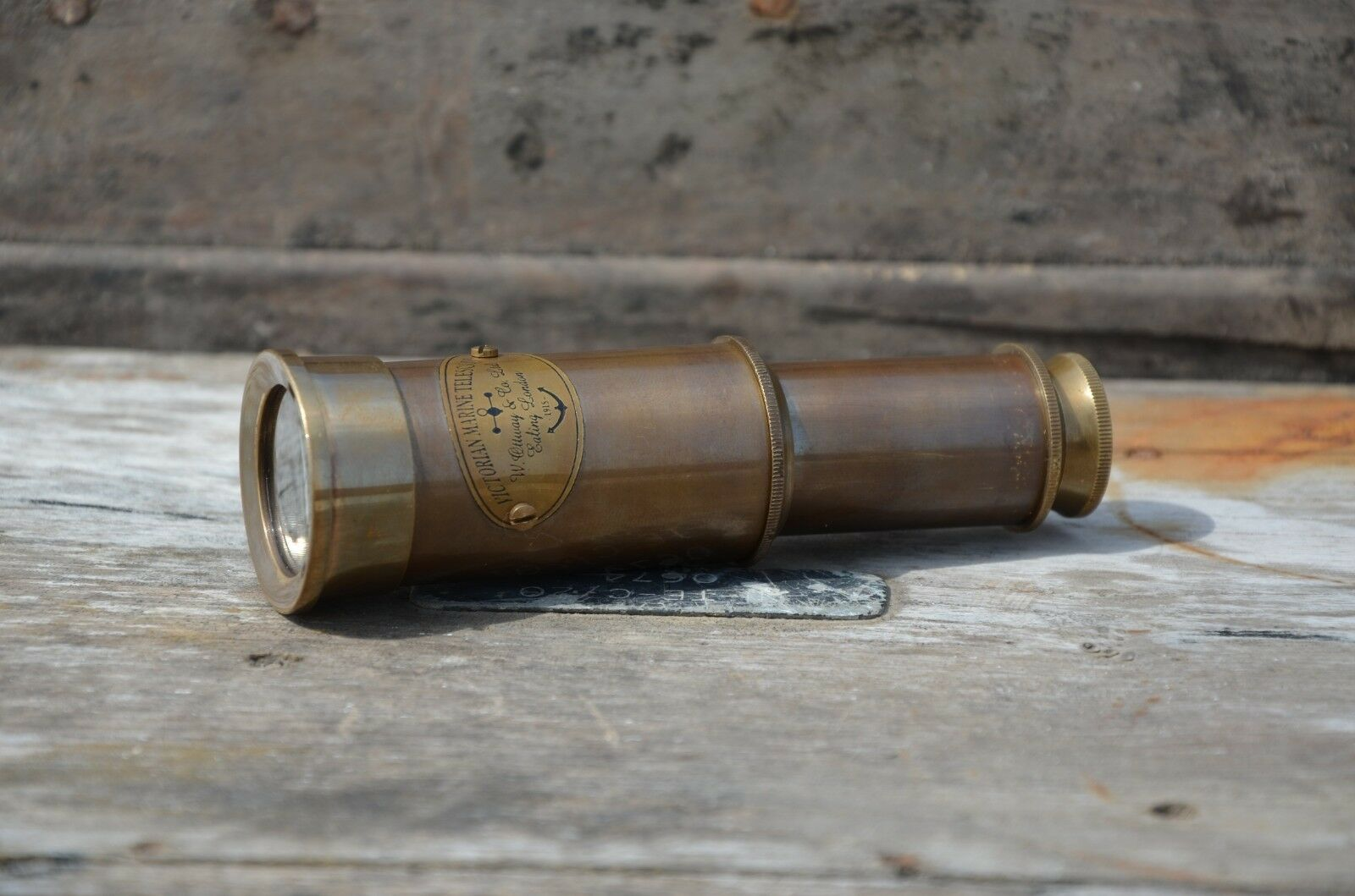 "Vintage Antique Telescope 15/"" Inch Brass Antique Hand Extending Naval Victorian"