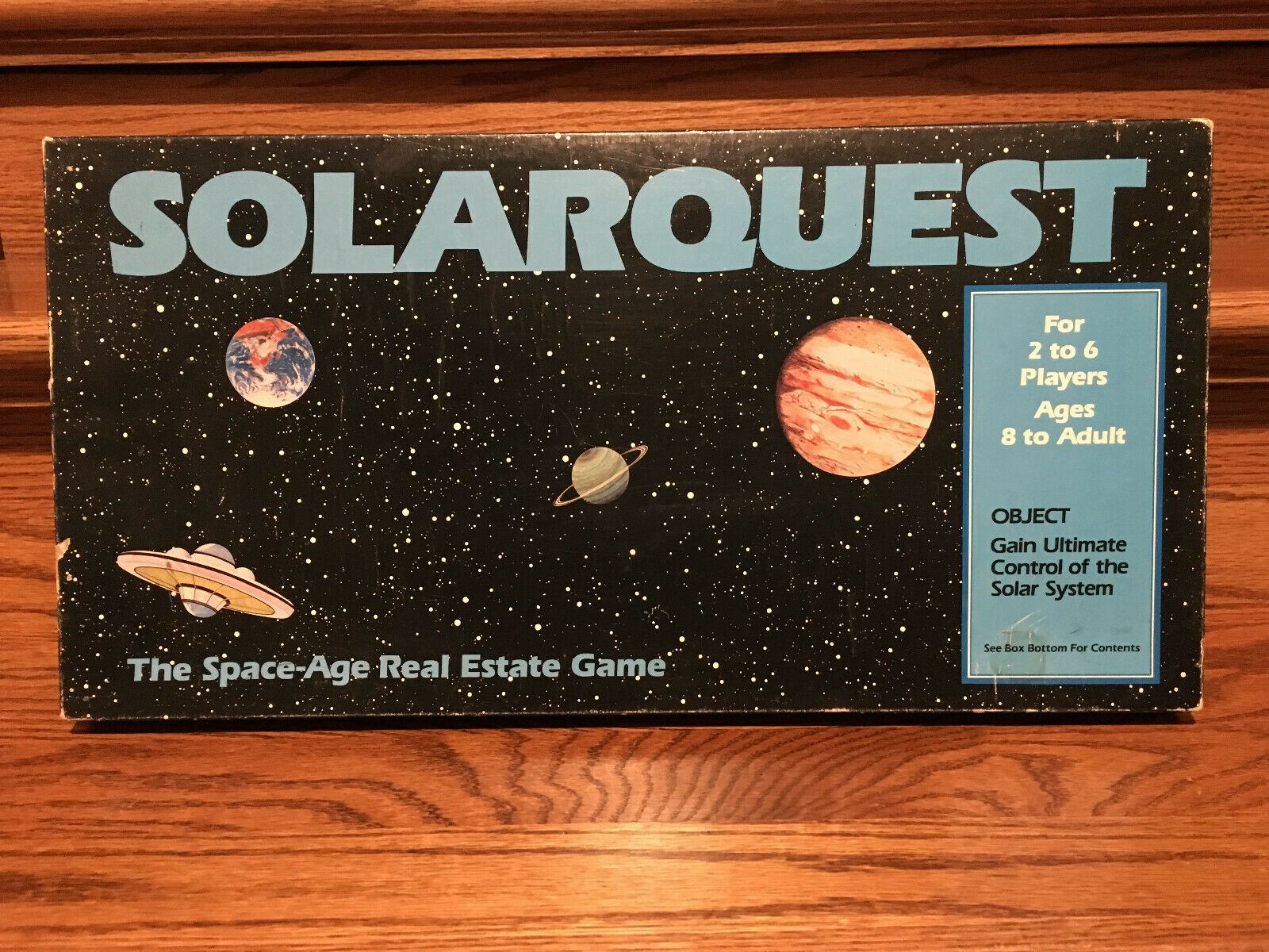 EXTREMELY RARE  1985 ProssoOTYPE (blu BOX) SOLARQUEST GAME 1st EDITION COMPLETE