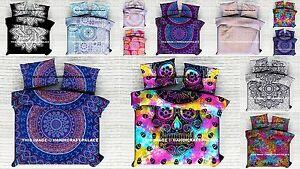 Indian Duvet Doona Cover Comforter Mandala Hippie Reversible Quilt Cover Set