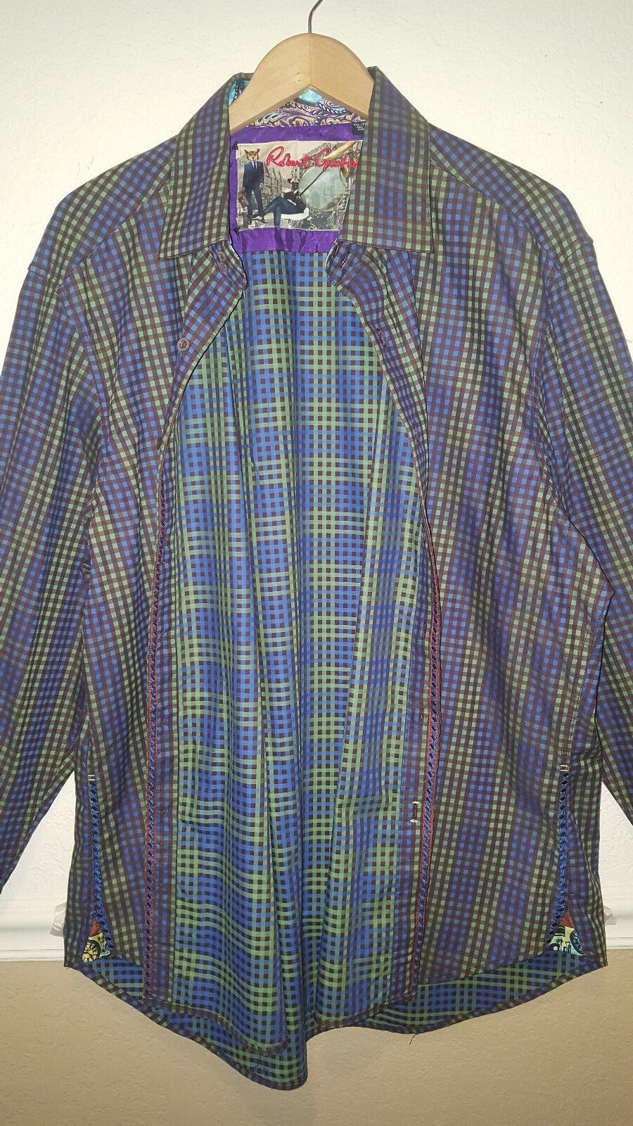 NEW Robert Graham  Button Down Sports Dress Shirt 3XL
