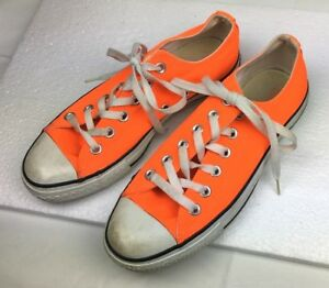008aec19d4f6 Converse All-Star Chuck Taylor Low-top NEON ORANGE Mens Sz 5 Womens ...