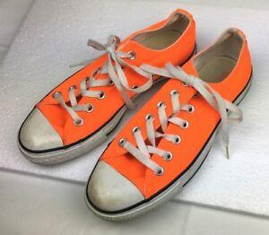 neon orange chuck taylor's. brand new.