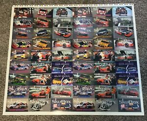 Indy 500 Skybox Auto Racing Card Earnhardt Factory Test Proof Uncut Sheet Rare!