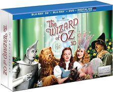 The Wizard of Oz (3D 2D Blu-ray/DVD, 2013, 5-Disc Set, Collector's Edition) NEW