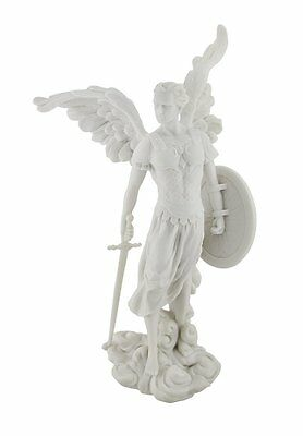 "13.5""  Archangel Michael Statue Figurine Figure Religious San Saint Angel St"