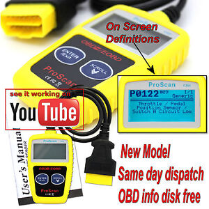 FOR VOLVO OBD2 CAN BUS EOBD CAR FAULT CODE READER ENGINE SCAN DIAGNOSTIC RESET