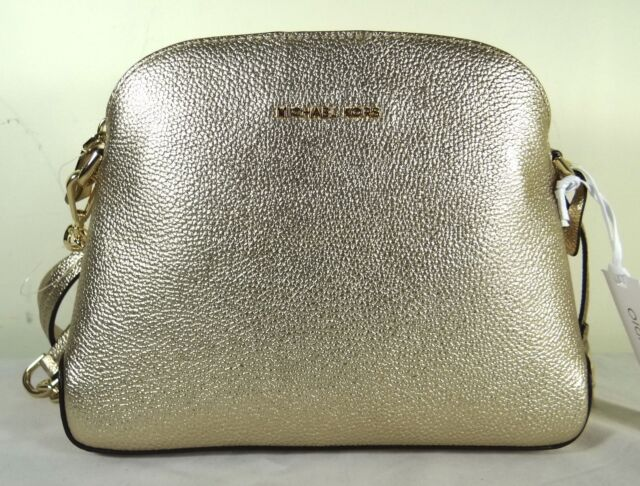 0e04c09265f3d Michael Michael Kors Mercer Medium Dome Pale Gold Leather Messenger Bag