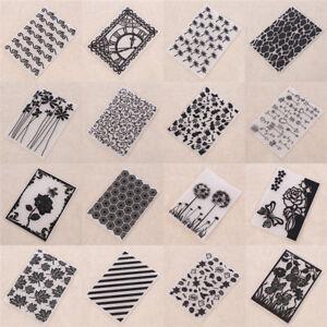 DIY Scrapbooking Prägeschablone Embossing Folder Plastik Stern Gekritzel Motiv