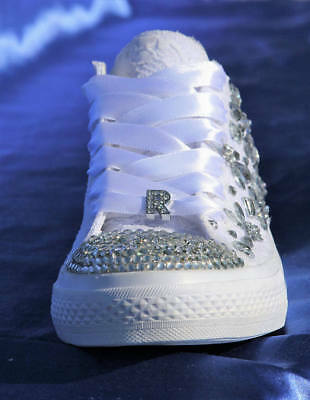 White Wedding sneakers Bridal trainers