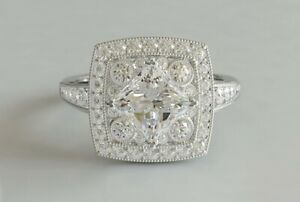 4Ct Princess Cut Diamond Accent Solitaire Engagement Ring 14K White Gold Finish