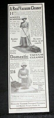 1911 Old Magazine Print Ad Be Shrewd In Money Matters You Try One At Our Risk Domestic Vacuum Cleaner
