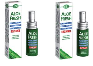 Aloe Fresh Spray Esi Alito Fresco per Alitosi Menta Forte 2 Confezioni