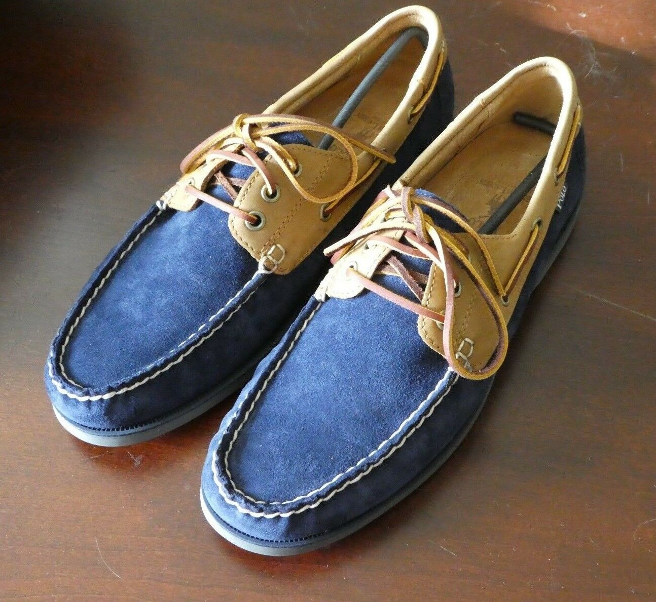 Polo Ralph Lauren Bienne Uomo shoes boat new size 10.5
