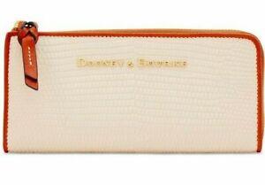 Dooney-And-Bourke-Continental-Zip-Clutch-Wallet-Purse-White-168-RRP-Online