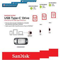 Sandisk Ultra 32gb 64gb 128gb Type-c Usb 3.1 Flash Memory Drive Sdcz450