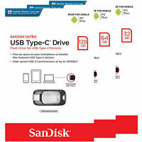 Sandisk Ultra 32gb 64gb 128gb Type-c Usb 3.1 Flash Memory Drive Sdcz450