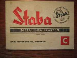SPIELWAREN-STABA-Metallbaukasten-C-Orig-Anleitungsbuch-1963