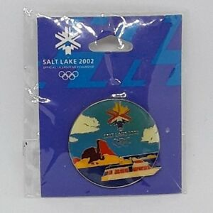 2002-Salt-Lake-Olympic-Games-Lapel-Hat-Pin-Logo-Mountain-and-Yacht