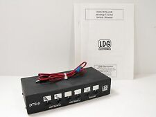 LDG DTS-6 Remote Coaxial Switch for Ham Radio w/ Original Manual, DC Cable