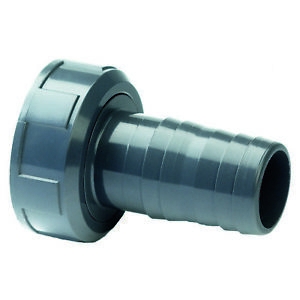 PVC Hose Tail Adaptor Female BSP Threaded.  2-Part With Swivel Nut & Washer
