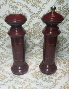 Vintage-Peugeot-Freres-Borel-France-Mahogany-Salt-Pepper-Mill-Set