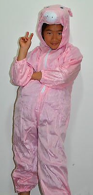 New Kids Unisex Kigurumi Animal Cosplay Costume Onesies Pjs Pajamas Pig Pink
