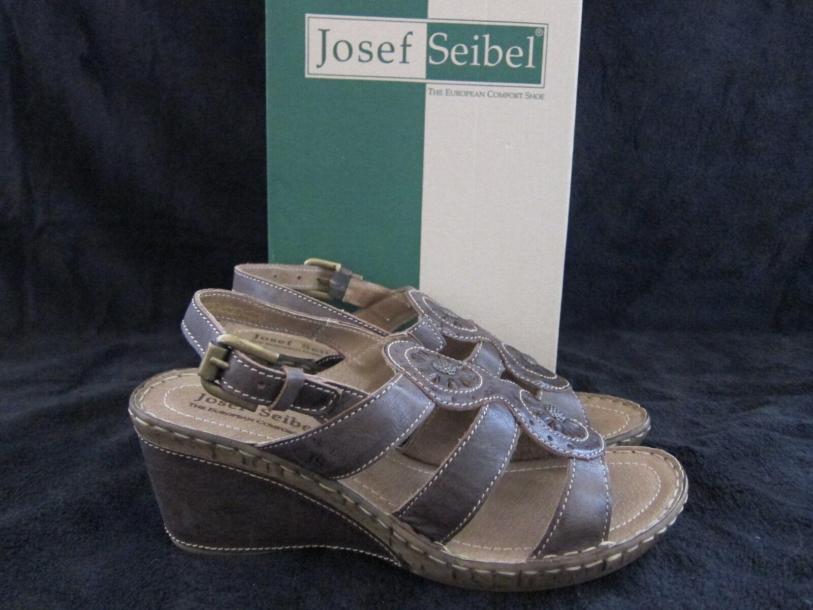 JOSEF SEIBEL Salma 08 Womens Espresso Sandals shoes Size US 9 - 9.5 M NWB