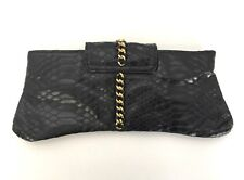Marciano Black & Gold Leather Clutch